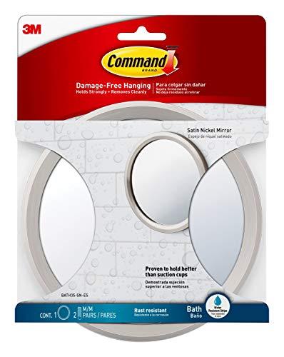 Command Espejo de Baño, Níquel Satinado, 17.32x1x17.32 cm