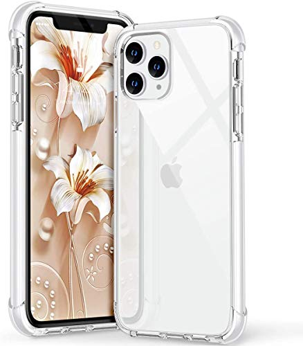 RKINC Case ForApple iPhone 11 Pro 5.8', Crystal Clear Reinforced Corners Soft TPU Bumper Cushion + Hybrid Rugged Hard Transparent Panel Cover forApple iPhone 11 Pro 5.8'