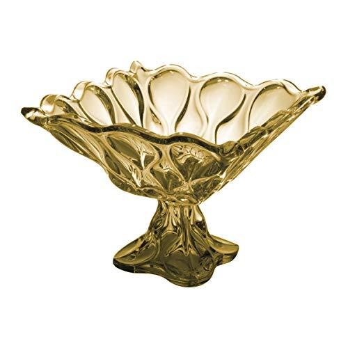 Fruteira de Cristal de Chumbo com Pé, Rojemac, 26045, Âmbar
