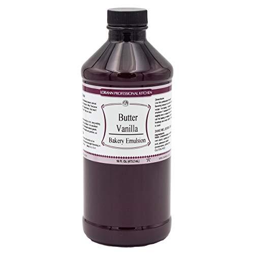 LorAnn Butter Vanilla Bakery Emulsion, 16 ounce bottle