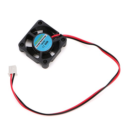 GREEN&RARE DC 12V 30 * 30 * 10mm,Small 2-Wire Cooling Fan, 3D Printer Parts Extruder