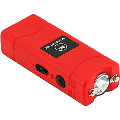 VIPERTEK VTS-881 - 35 Billion Micro Stun Gun - Rechargeable with LED Flashlight, Red