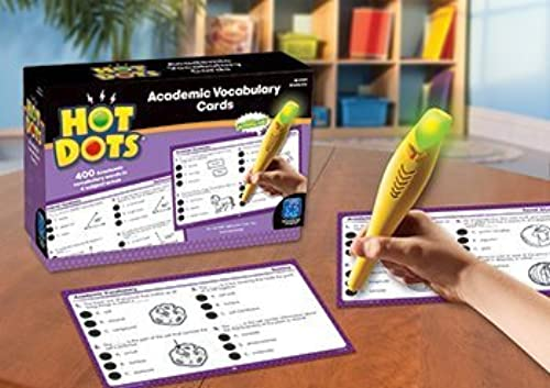 4 Pack EDUCATIONAL INSIGHTS HOT DOTS ACADEMIC VOCABULARY voitureD by EDR