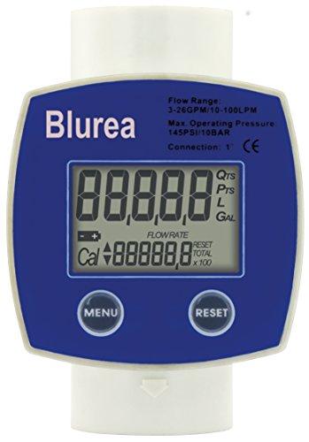 BLUREA Durchflussmesser digitales Zählwerk für AdBlue®, Anschluss 2x1