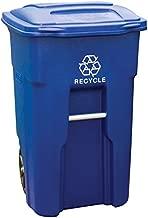 Toter 025532-R1BLU 32Gal Wheel Recycle Bin, 32 Gallon