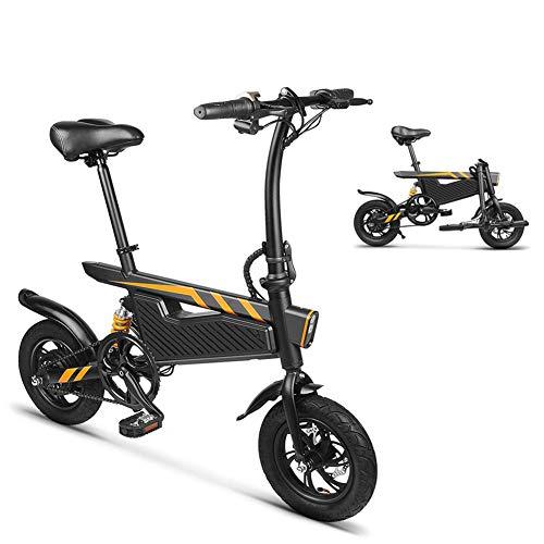 WYJW Elektrische fiets, opvouwbaar, van lichtgewicht aluminium, 250 W elektromotor en dubbele schijfremmen, veersysteem, met ledlicht, belasting 264 lb, voor jongeren
