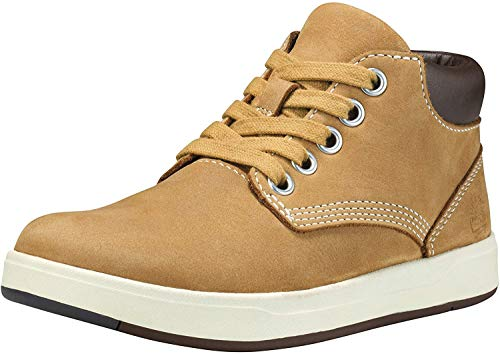 Timberland Unisex-Kinder Davis Square Leather Chukka Boots, Gelb (Wheat), 25 EU