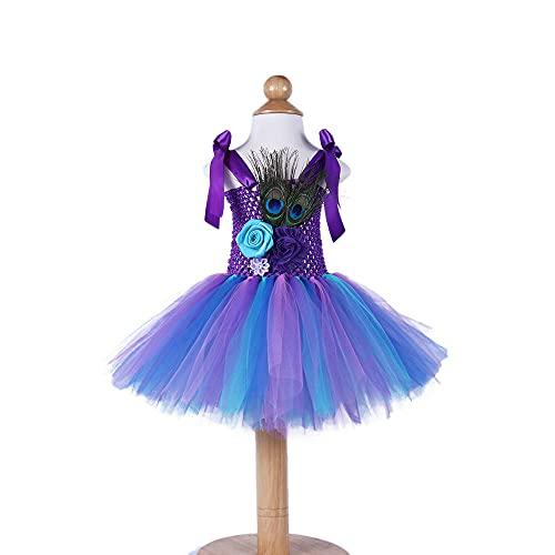Quenny babys' princess dress,peacock flower dresses,babys' tutu skirt suits with headdress.