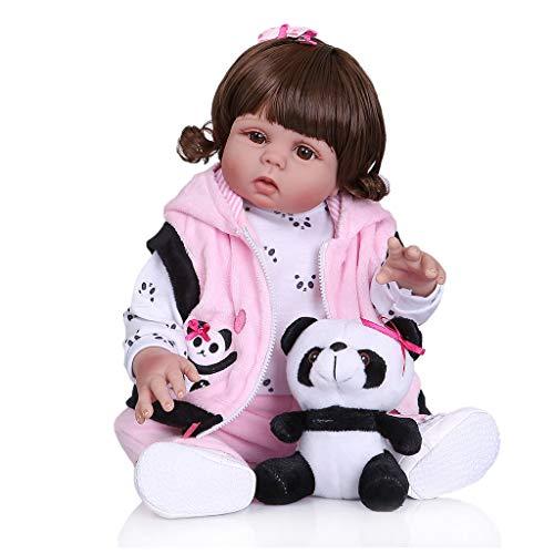 Cgration 45,7 cm de aspecto realista, juguete de silicona para recién nacidos, para niños y ancianos, regalo de Navidad