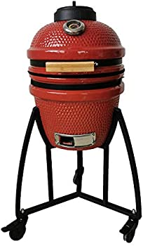 Lifesmart Kamado Charcoal Grill 133 Sq. In Cooking Surface
