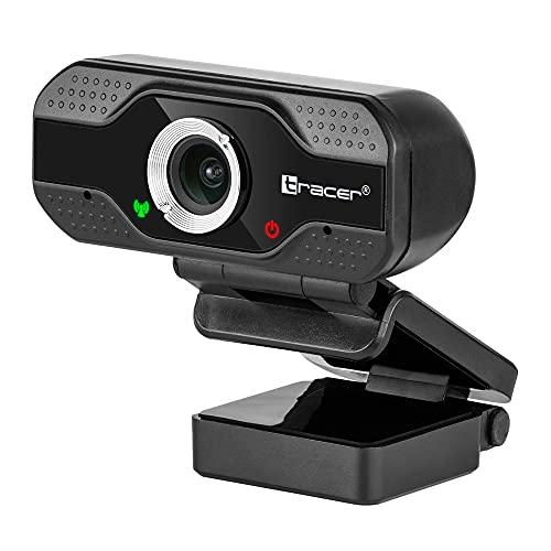 Tracer - Webcam Full HD 1080P con micrófono Integrado, reducción de Ruido, Gran Angular, 120 Grados USB