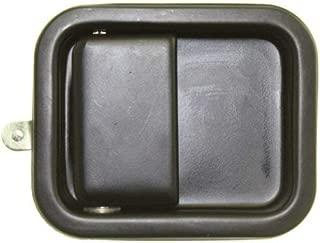 Exterior Door Handle for WRANGLER 97-06 Front LH Outside Smooth Black Full Door Type Metal (Zinc