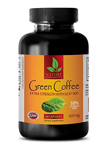 Slimming Pills for Fast Weight Loss - Green Coffee Bean Extract - Extra Strength GCA 800 MG - Green Coffee Diet Support - 1 Bottle (60 Capsules)