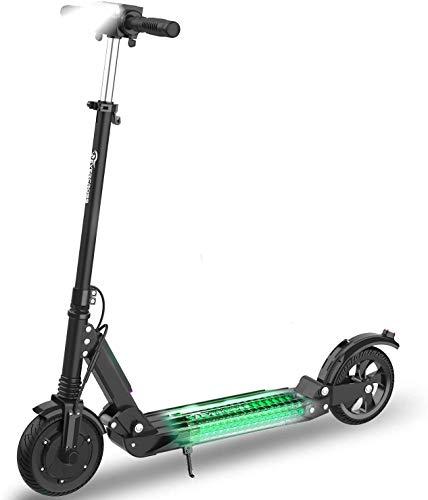 Patiente eléctrico HITWAY Patinete eléctrico de 8,5 Pulgadas con Parte Trasera sólida, Patinete eléctrico Plegable, Motor de 350 W, Velocidad máxima de hasta 30 km/h, Equipado con Pantalla LED y Bluetooth