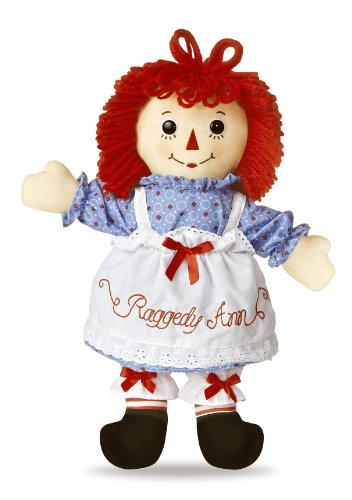 """Raggedy Ann Classic Large 16"""" Doll by Aurora with 100th Anniversary 1915-2015 Hang Tag"""