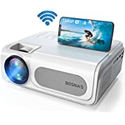Beamer, WiFi Bluetooth 5G Beamer 8500 Lumen Beamer Full HD 1080P Heimkino Beamer Office Beamer Unterstützung 4K Video, Kompatibel mit TV Stick/iOS/Android/Xbox/Laptop/PC