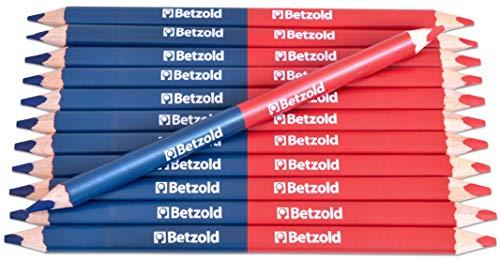 Betzold - Zweifarb-Stift in rot/blau - Dreikantstifte Holzfarb-Stifte Kinder-Stifte