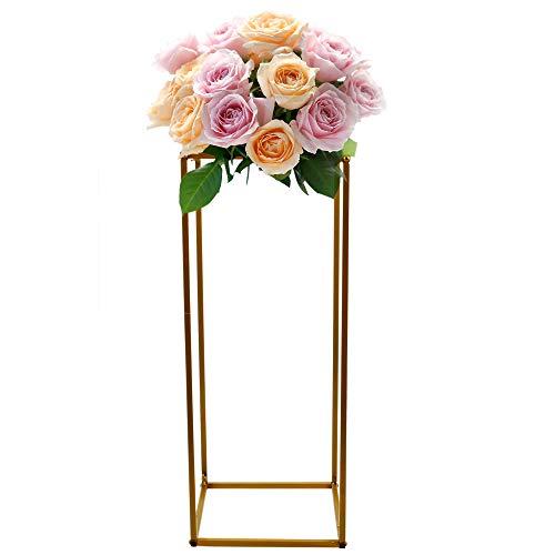 4 piezas de metal para bodas flores rectangulares Geometric Flower Stand TischblumenstäNder 4 StüCke para bodas decoración 40/60/80/100