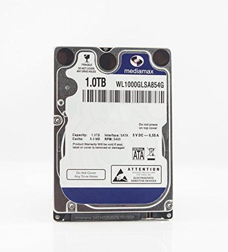 MediaMax 1TB interne Festplatte 2.5 Zoll, 7mm, HDD SATA III, 64MB Cache, RPM: 5400 (U/min), 1000GB, WL1000GLSA6454G, SATA Festplatte 1 TB intern, Backup Festplatte PC Laptop Notebook Gaming Computer
