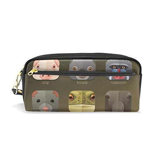 Pen Zipper Bag,Caja Animal De La Bolsa Del Lápiz De La Koala Del Cerdo Del Entramado, Bolsas De Maquillaje De Impresión Para Las Compras Caseras Al Aire Libre,20x5.5x8.5cm