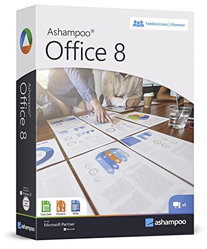 Office 8 - Home Student Professional - lebenslange Laufzeit für 5 PCs im Haushalt - kein ABO - Kompatibel mit Word, Excel, Powerpoint für Windows 10 8 7 Vista