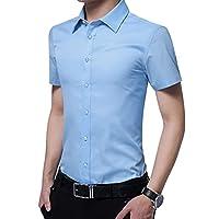 半袖 ワイシャツ メンズ スリムフィット ノーアイロン 形態安定 ビジネス シャツ 透けない 通気性抜群 クールビズ 大きいサイズ 通勤 カジュアル Yシャツ 細身 M-5XL