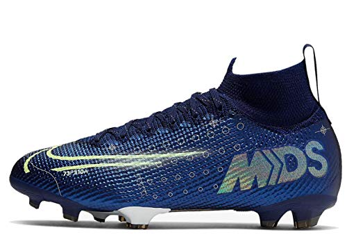 Nike Performance Mercurial Superfly 7 Elite MDS DF FG Fußballschuh Kinder blau/gelb, 6Y US - 38.5 EU - 5.5 UK