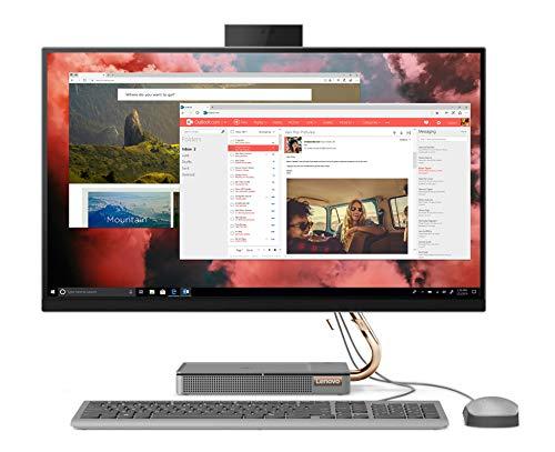 Lenovo IdeaCentre AIO 5 - Ordenador de Sobremesa Todo en uno (Pantalla de 27' QHD, Procesador Intel Core i5-10400T, 512GB SSD, RAM 8 GB, Windows 10 Pro) Ratón y Teclado QWERTY Español USB, Gris