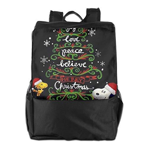 Zaino da viaggio Zaino per laptop Snoopy di Natale Zaino da viaggio da viaggio per uomo donna
