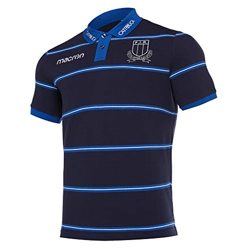 Macron Polo Italie Rugby 2018 officiel