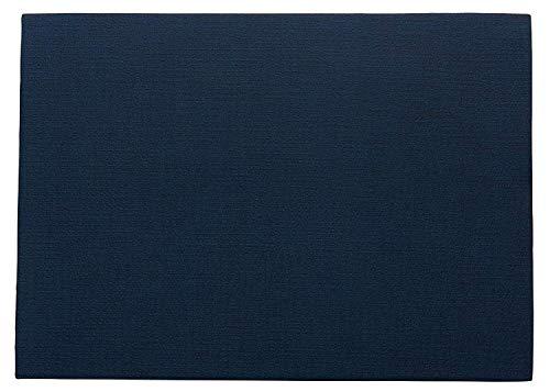 ASA 78200076 Set de Table Bleu Nuit Aspect Cuir PVC 33 x 46 cm