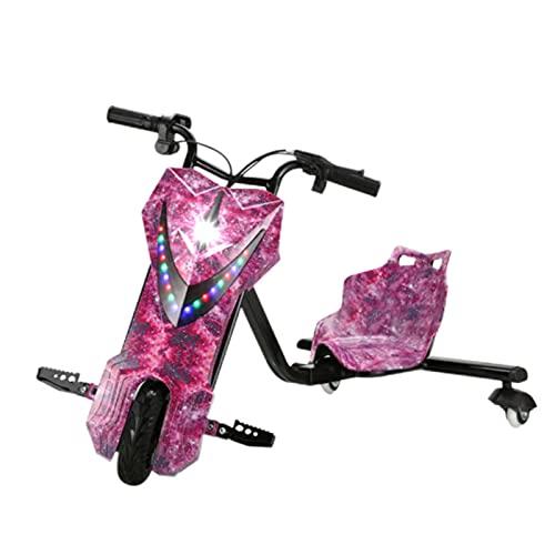 360 Vehículo eléctrico Drifter Derrapador eléctrico Moto Triciclo 20km de autonomía Coche De Pedales Go-Kart Longitud Ajustable de Cuatro Marchas