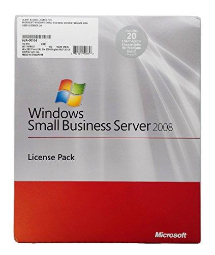 Microsoft Win SBS Prem CAL Ste 2008 English MLP 20 Clt AddPak User CAL (PC CD) [Import anglais]