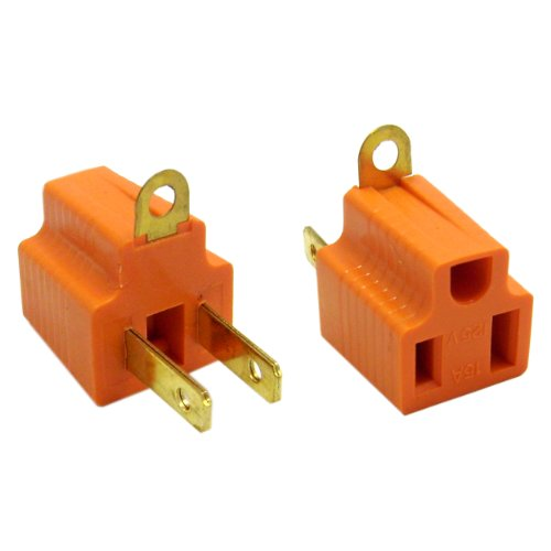 3 Prong to 2 Prong Grounding Converter for AC Outlet, 5 Pack (ED71583)