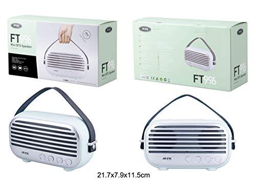 Altavoz Mini BTS Speaker Bluetooth Radio FM TF Reproductor Altavoces Retro (Azul)