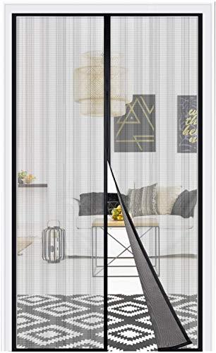 Adoric Magnetisches Fliegengitter Tür Vorhang Anti-Fliegen Automatik Installation ohne Werkzeug für die Familie (91 x 210 cm)