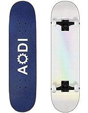 AODI Skateboards for Beginners, 31 Inch Complete Skateboard Canadian 7 Layer Maple Wood Kick Cruiser Standard Skate Board Designed for Kids Teens & Adults