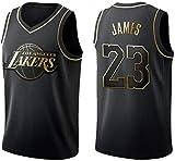 Zxwzzz NBA Lakers Bryant Maillot No.24 De Basket-Ball Masculin, Survêtement Rétro Classique Uniforme De Formation Perméable À L'air, Haute Séchage Rapide Matériau Gilet No.23James De Sport