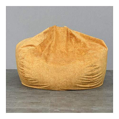 Sofá Portátil Sofá Bean Bag Sofá Perezoso Tatami Asiento De Tela Individual Dormitorio Sala De Estar Cojín Cómodo Y Transpirable Extraíble Y Lavable Tamaño Pequeño Mediano Grande (Color: Ginger, Size: