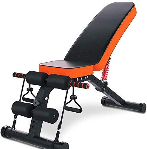 Candtong Outdoor-Fitness Gewichtheben Bett, multifunktional Bauchmuskeln Stuhl mit verstellbarer Rückenlehne-Geschwindigkeit Ball und Kordelzug, geeignet for Gewichtheben Sit-ups und andere Indoor-Fit