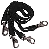 Kensington Adjustable Leg Straps for Horse Blanket — Designed with Elastic for Horses Comfort — Easy Latch Hooks for Quick Removal — Sold in Pairs (AVG)