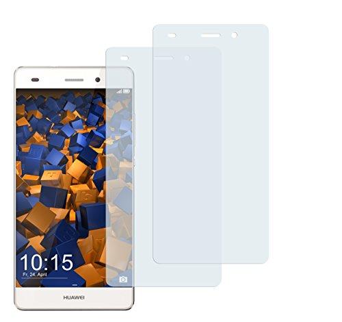 mumbi Schutzfolie kompatibel mit Huawei P8 Lite 2015 Folie klar, Bildschirmschutzfolie (2X)