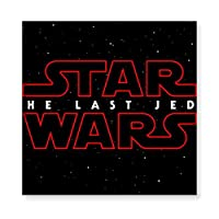Star Wars The Last Jedi 木製 額縁 フォトフレーム 壁掛け 木製 横縦兼用 絵を含む 40×40cm