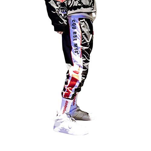 Irypulse Herren Lässiger Sport Jogger Hose, Straßenmode Jogginghosen für Jugendliche und Jungen, Hip Hop Stil Trainingsanzug mit Trendigen Stylischen Seitenstreifen - Original Design