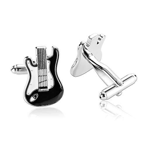 Ducomi Extravagant – Gemelos de Hombre para Camisa – Elegantes y Originales Accesorios para Boda, Novio y Ocasiones Importantes, Muchos Modelos para Idea de Regalo Perfecta Guitarra Bolsa de Organza