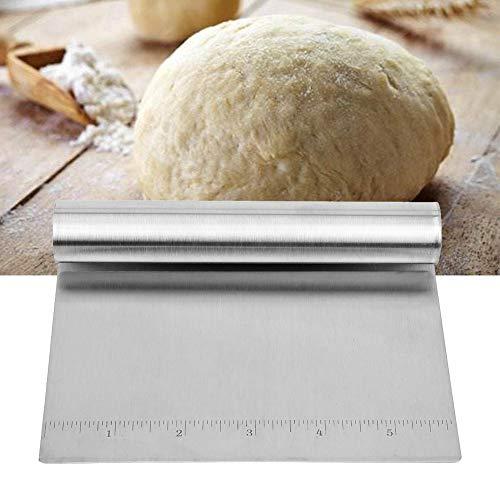 Runy Küchenzubehör Teigschneider Mehlschaber Mehlspachtel Edelstahl für Pizza, Gebäck, Pfannkuchen, Battercake
