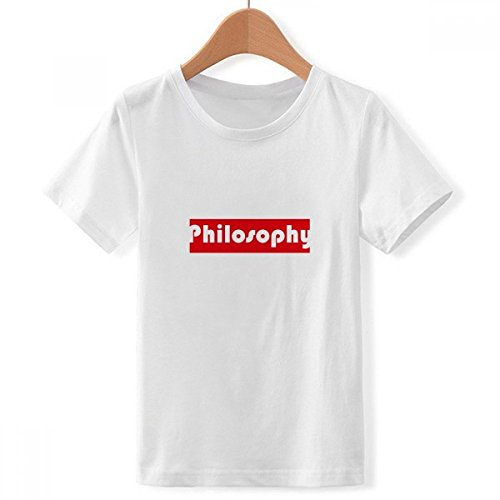 DIYthinker Curso y la filosofía Principal Cuello tripulación de la Camiseta para Chico Multicolor XXX-Grande