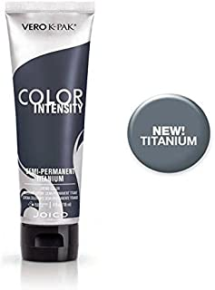 Joico Color Intensity Semi-Permanent Creme Hair Color (with Sleek Tint-Brush) (Titanium)