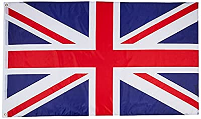 MM Great Britain–Union Jack Flag 5 feet x 3 feet (150 x 90 cm), weather-proof, multi-coloured,16208 from MM