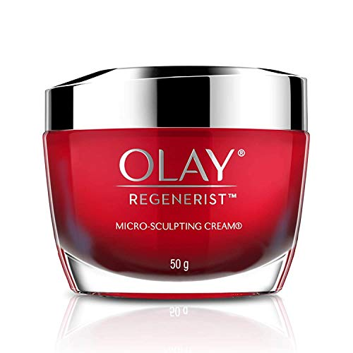 Olay Regenerist Microsculpting Cream With Hyaluronic Acid For Intensely Hydrated & Firmer Skin, 50g